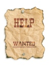 old help wanted sign
